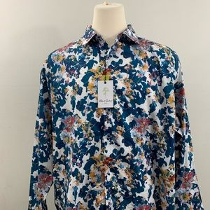 Robert Graham Mens Blue Floral Limited Edition